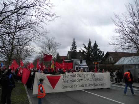 Kopf des Demonstrationszugs