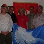 von links Ewald, Tobias Pflüger, Nicole Stadler, Daniel Stadler und Peter Müller